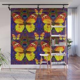 PATTERNS OF GOLDEN BUTTERFLIES ART Wall Mural