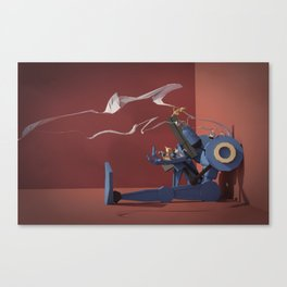 Police-Bot with Kittens Canvas Print