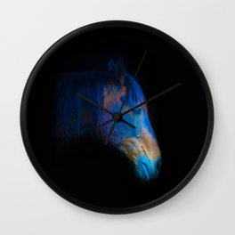 His Quiet Place II - Black Thoroughbred Percheron Wall Clock