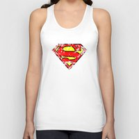superman Tank Tops featuring Superman by sambeawesome
