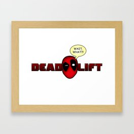 Deadlift Framed Art Print