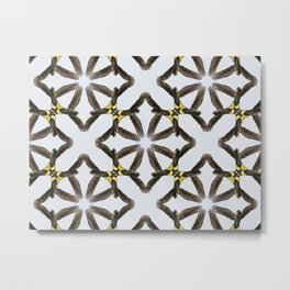 Black cockatoo pattern Metal Print