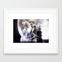 captain swan Framed Art Prints featuring Captain Swan by Clara J Aira