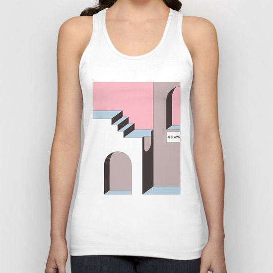 Go Away - At least try. Unisex Tank Top
