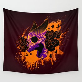 Skull 'n' Roses (NightmareNetty-Colored) Wall Tapestry