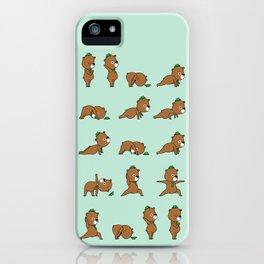 Yoga Bear iPhone Case