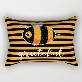 Be (Bee) Grateful Cute Funny Gift Women Men Boys Girls Kids Rectangular Pillow