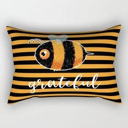 Be (Bee) Grateful Cute Funny Gift Women Men Boys Girls Kids Rectangular Pillow