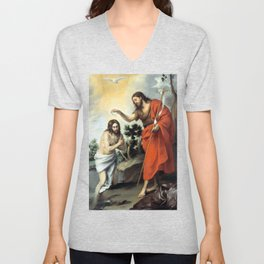 Bartolomé Esteban Murillo The Baptism of Christ Unisex V-Neck
