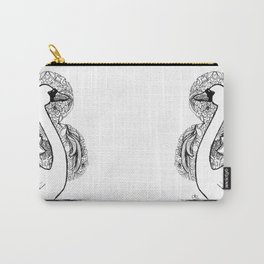 Swan with Patterned Frame Carry-All Pouch