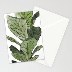 Ficus Lyrata Potted Plant.. Stationery Cards