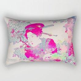 Pink geisha Rectangular Pillow