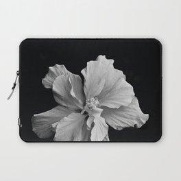 Hibiscus Drama Study - Black & White High Impact Photography Laptop Sleeve