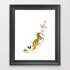Magic paintbrush Framed Art Print