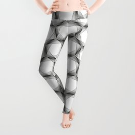 crazy hexagons Leggings