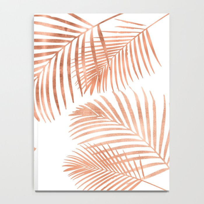 Rose Gold Palm Leaves Notebook