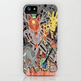 fox trot tribe iPhone Case