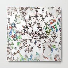 Molecules Metal Print