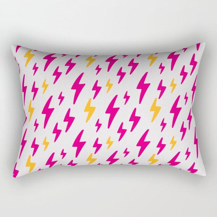 Retro Hand Drawn Lightning Pattern Rectangular Pillow