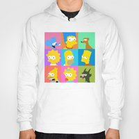 simpsons Hoodies featuring Simpsons by thev clothing