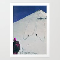 hiking Art Prints featuring Hiking by Richard McGee