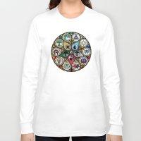 magic the gathering Long Sleeve T-shirts featuring Magic the Gathering - Stained Glass by omgitsmagic
