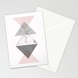 Triangle pattern modern geometric abstract Stationery Cards