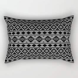 Aztec Essence Ptn III Black on Grey Rectangular Pillow
