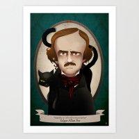 edgar allan poe Art Prints featuring Edgar Allan Poe said... by Mrs Peggotty