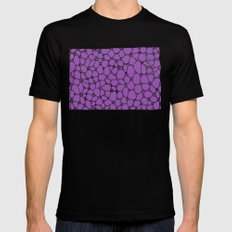 Yzor pattern 006-3 kitai lilac Black Mens Fitted Tee MEDIUM