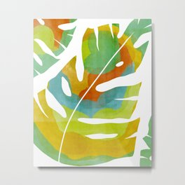 Vivid Palm Leaf (Part 2/2) Metal Print