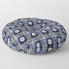 Azulejo VII - Portuguese hand painted tiles Floor Pillow