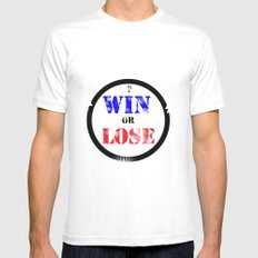 WIN OR LOSE? Mens Fitted Tee MEDIUM White