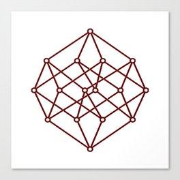 brown line . prism art Canvas Print