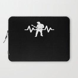 Heartbeat Rock Star Guitar Player Laptop Sleeve