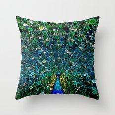 :: Peacock Caper :: Throw Pillow