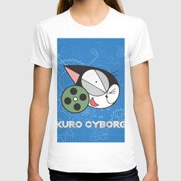 kuro cyborg cat T-shirt