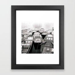 Boats in Vietnam Black and White Fine Art Print  • Travel Photography • Wall Art Framed Art Print