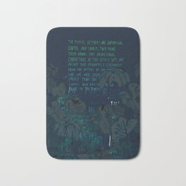 """""""Conquest of the Useless"""" by Werner Herzog Print (v. 8) Bath Mat"""