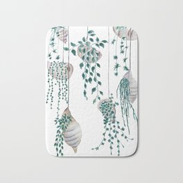 hanging plant in seashell Bath Mat