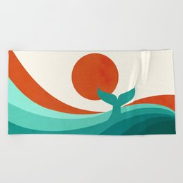 Wave (day) Beach Towel