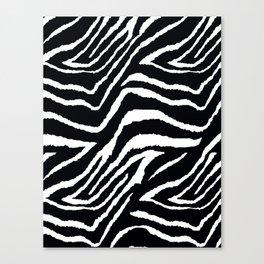 ZEBRA ANIMAL PRINT BLACK AND WHITE PATTERN Canvas Print