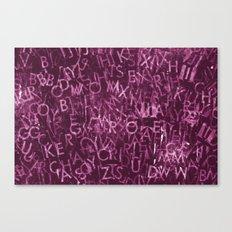 Futura Stamp Purple Canvas Print