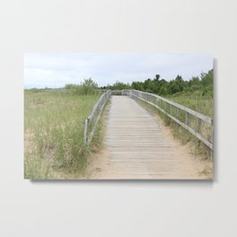Boardwalk Sand Metal Print
