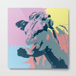 Happy Animal Metal Print