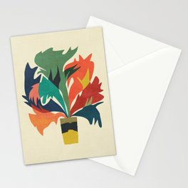 Potted staghorn fern plant Stationery Cards