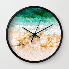 On the beach abstract painting Wall Clock