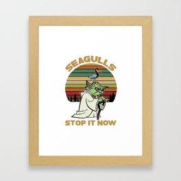 Seagulls Stop It - Vintage Framed Art Print