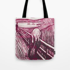 The Scream's Haze (pink) Tote Bag