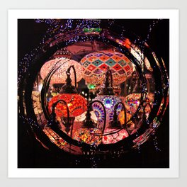 bright lights Art Print